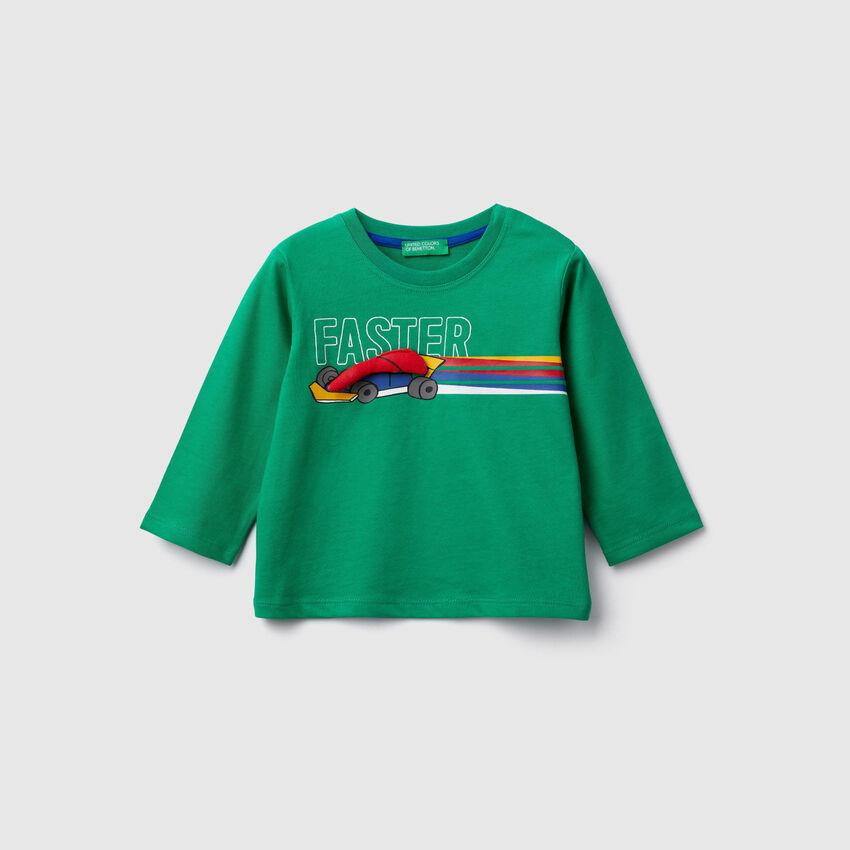 Camiseta algodón biológico con estampado