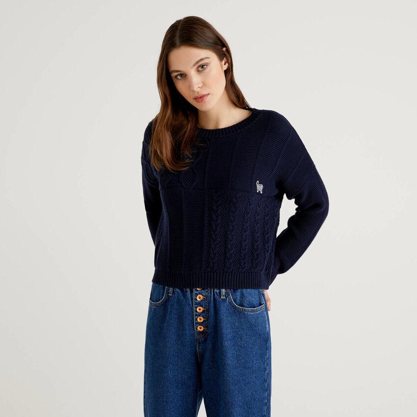 Jersey labrado de 100% algodón