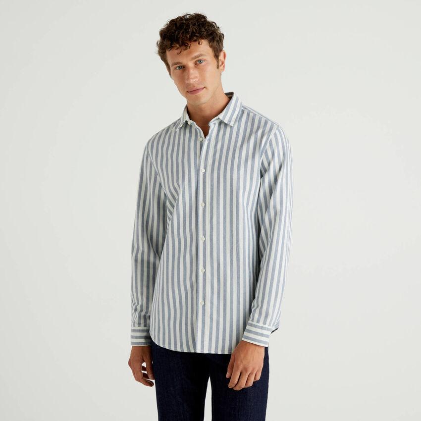 Camisa de rayas de 100 % algodón Oxford