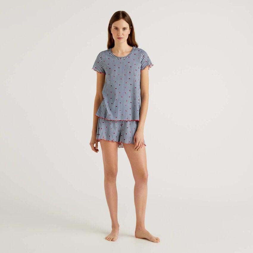 Pijama estampado de 100 % algodón