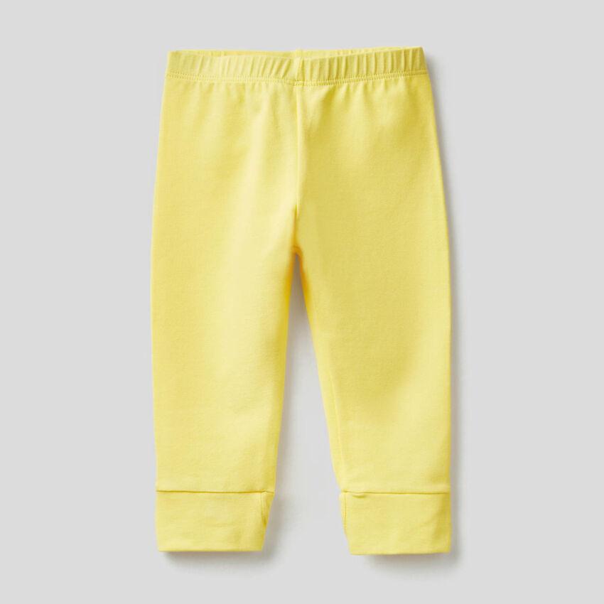 Leggings con lazo de algodón elástico
