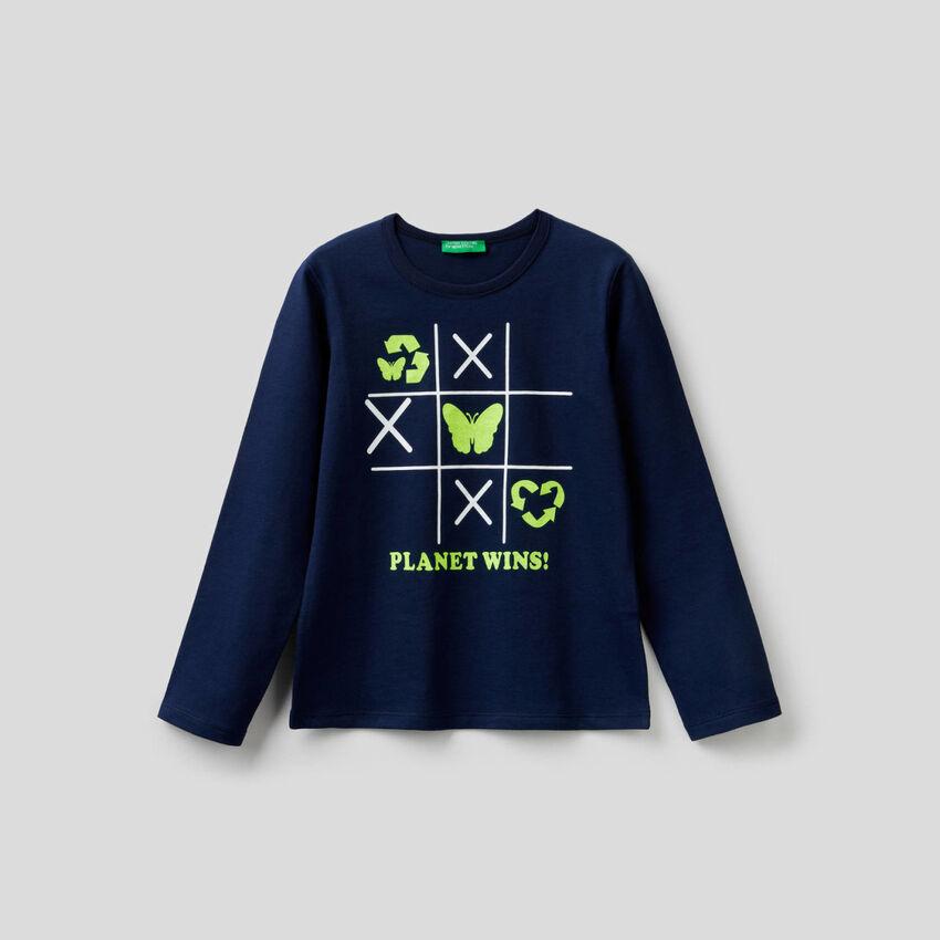 Camiseta estampada de 100 % algodón
