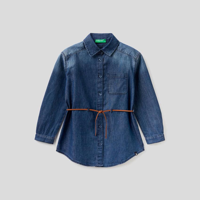 Camisa vaquera de 100 % algodón