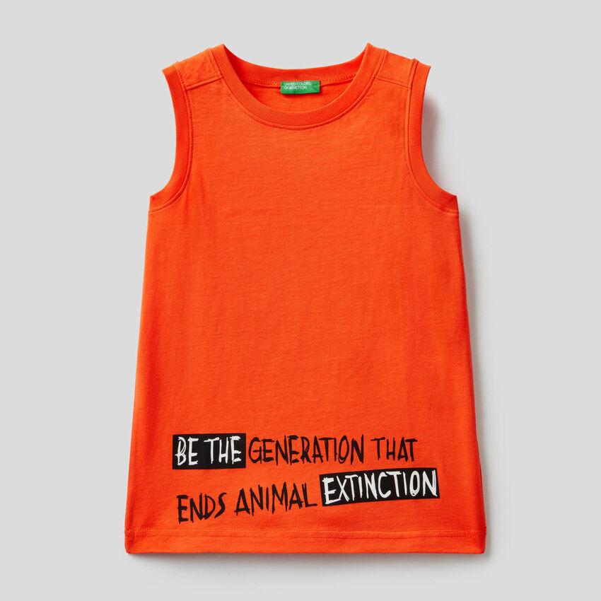 Camiseta de tirantes de 100% algodón