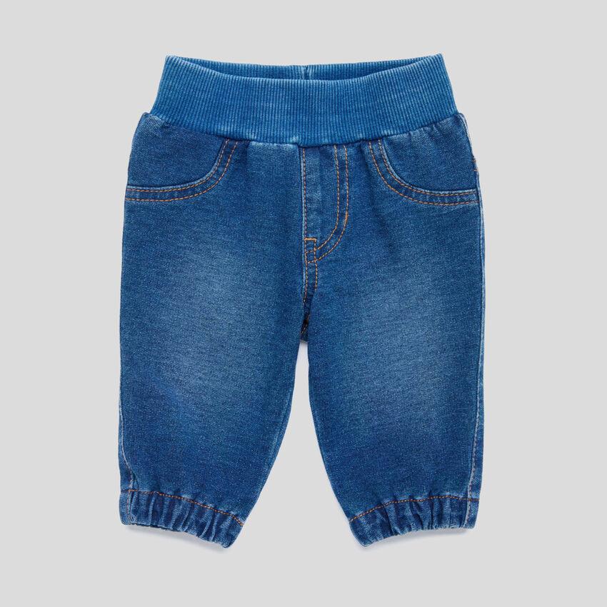 Pantalón elástico de efecto denim