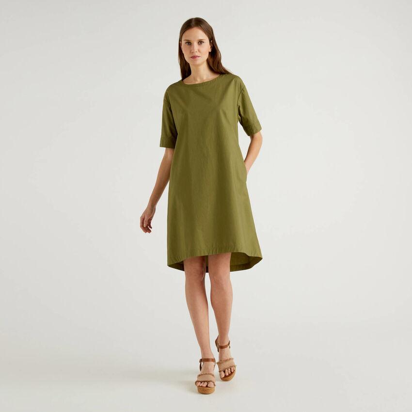 Vestido amplio de 100 % algodón