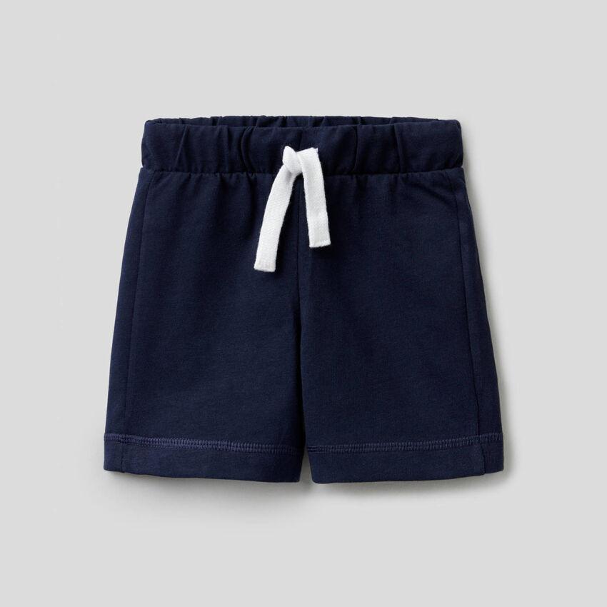 Bermudas de 100 % algodón con bolsillo con logo