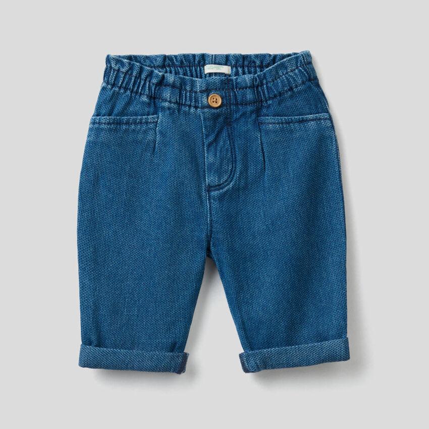 Pantalón en denim de algodón