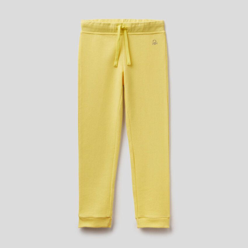 Pantalón de felpa con logotipo