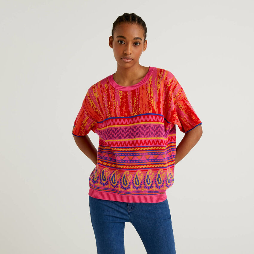 Jersey con diseño multicolor