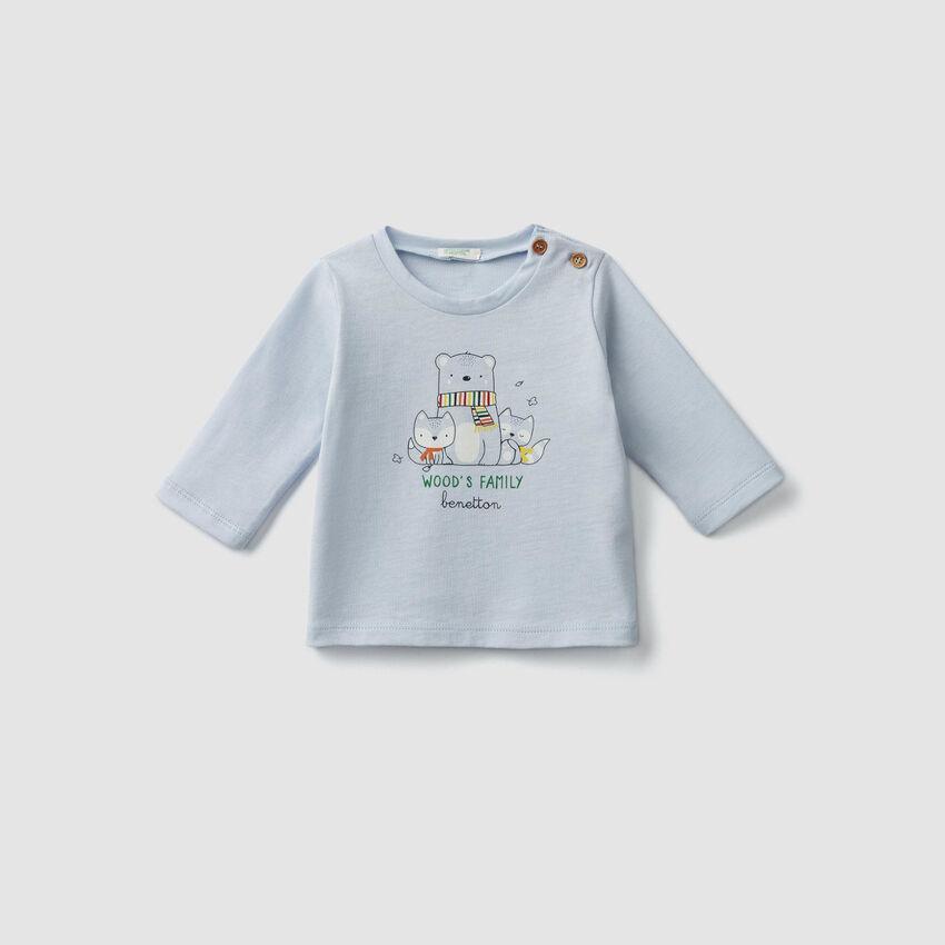 Camiseta de algodón orgánico estampada