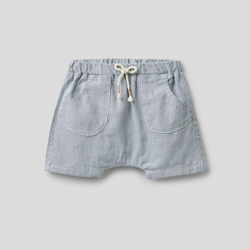 Pantalón corto de rayas de 100% algodón