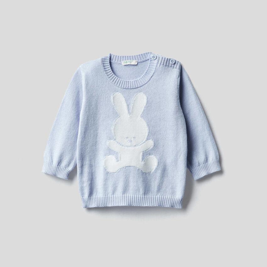 Jersey de 100 % algodón con grabado