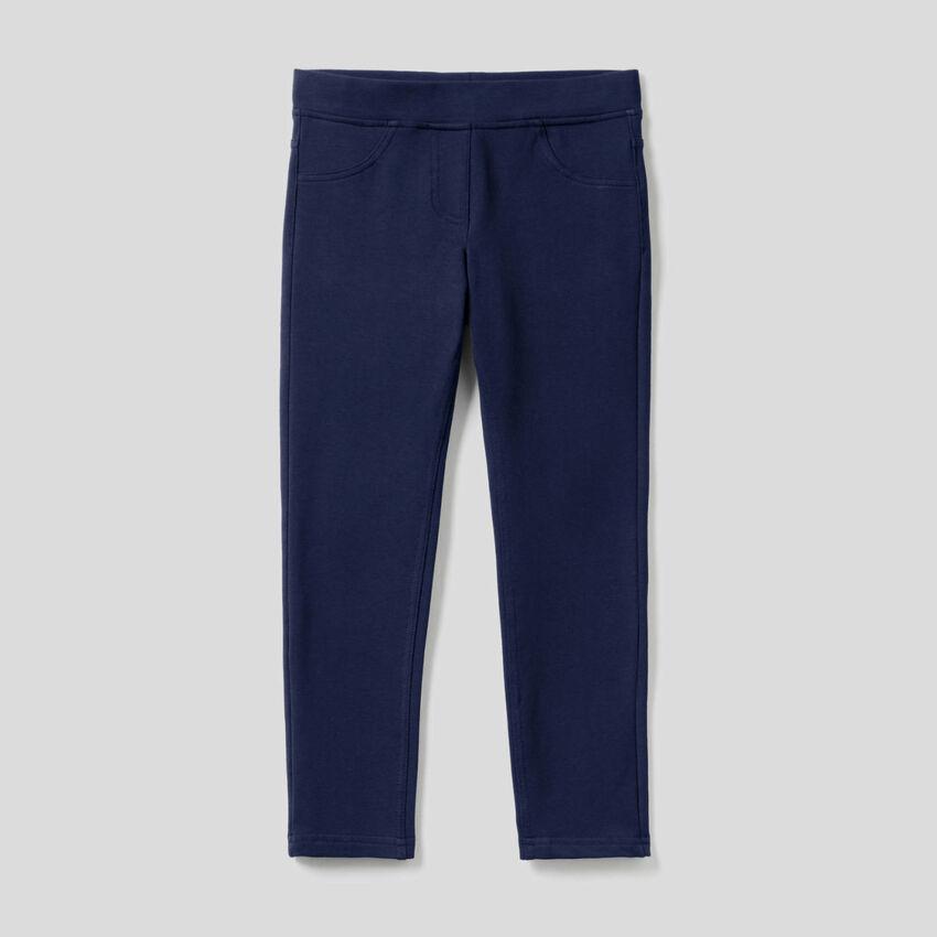 Pantalón de felpa de corte super skinny