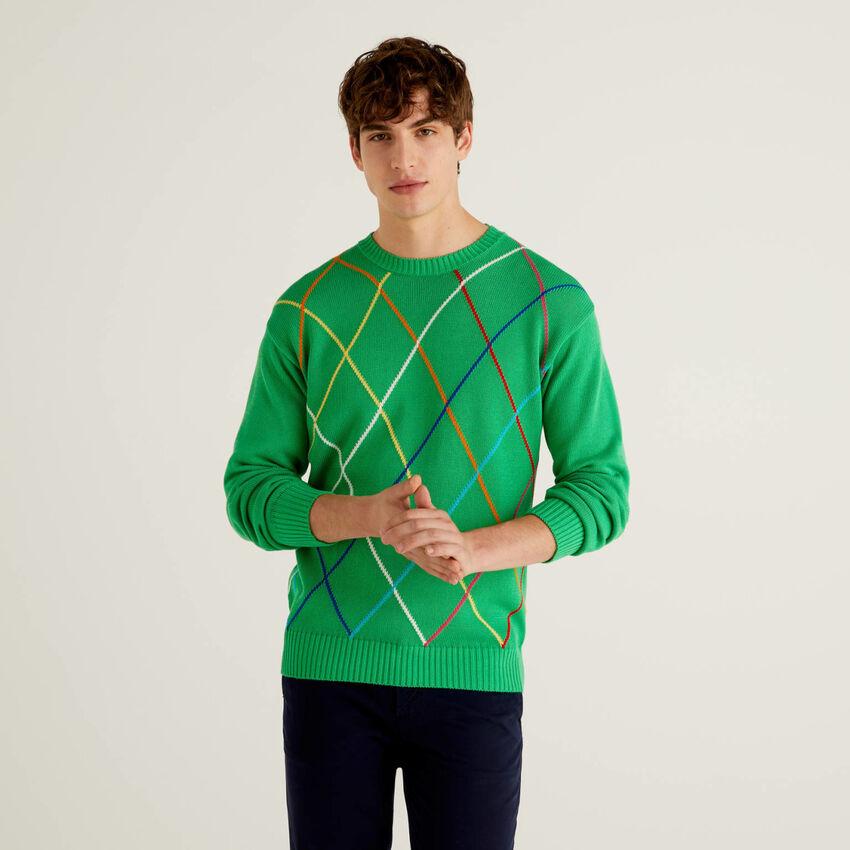 Jersey de rombos multicolor