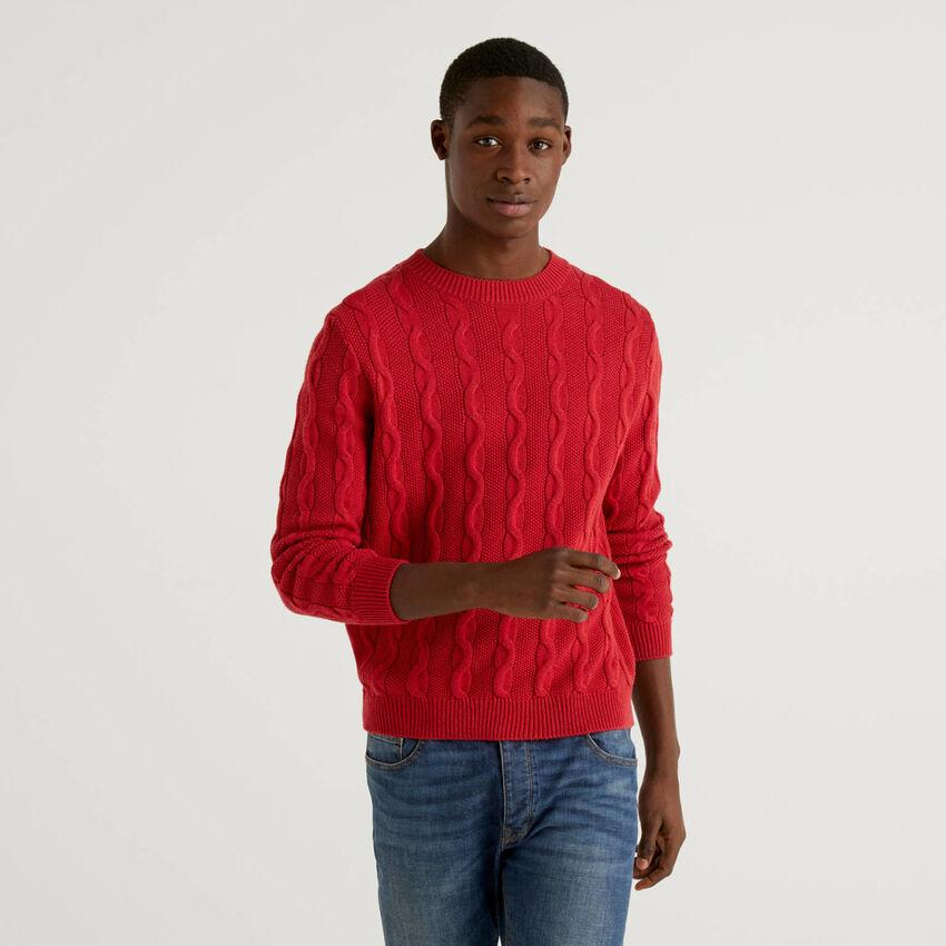 Jersey de cuello redondo con ochos