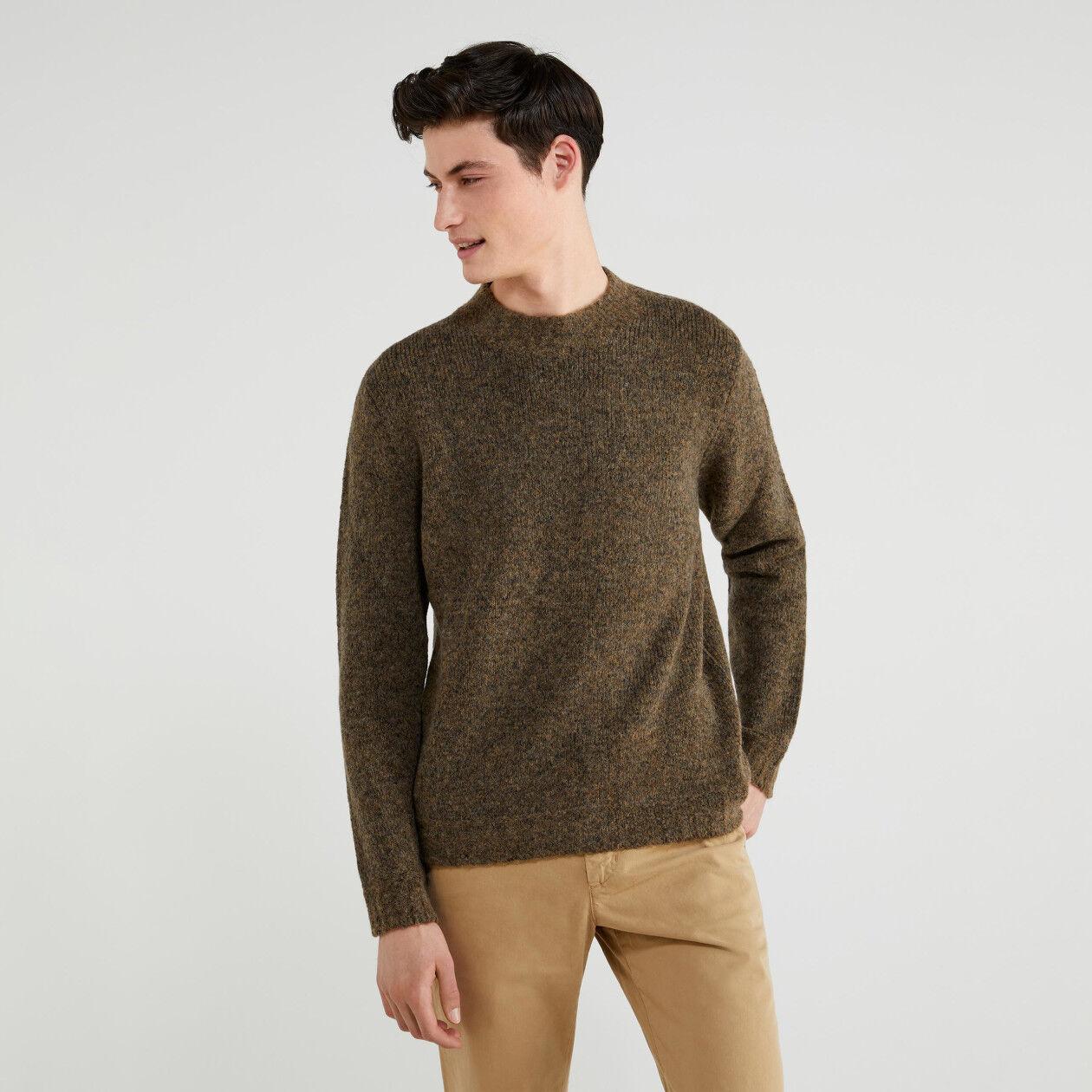 Jersey de algodón y lana