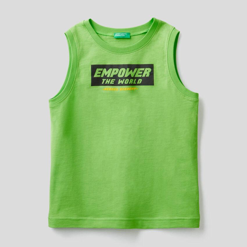Camiseta sin mangas con estampado