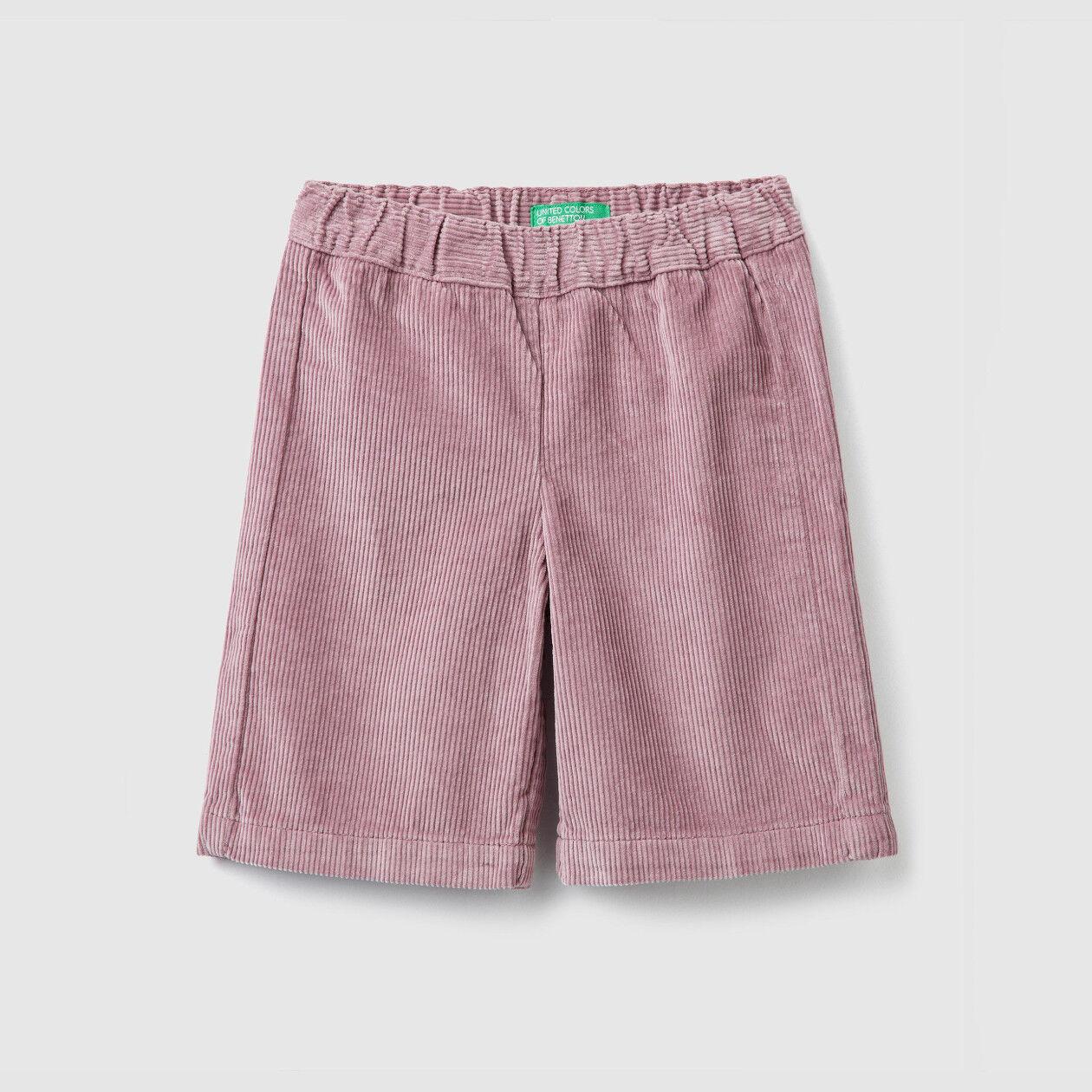 Pantalón cropped de pana