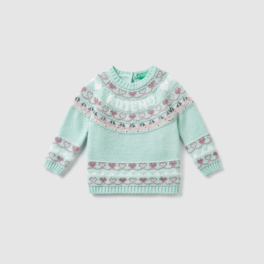 Jersey de lana de jacquard