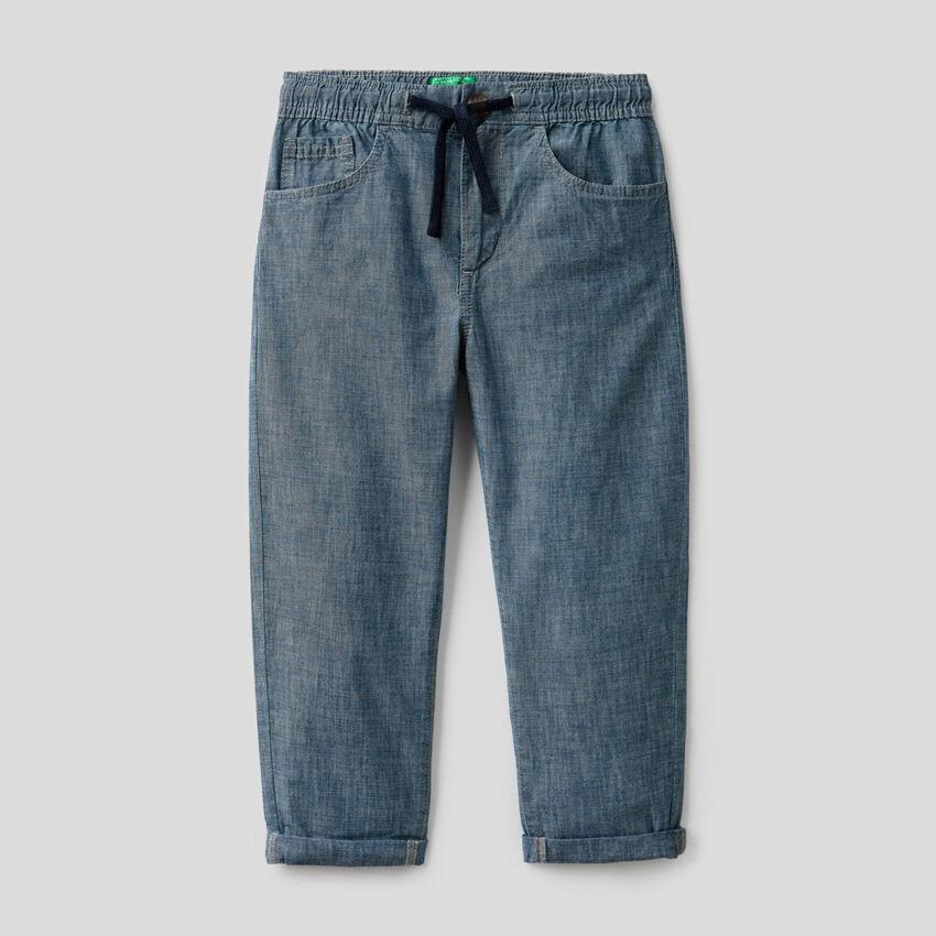 Pantalón de cambray de 100% algodón orgánico