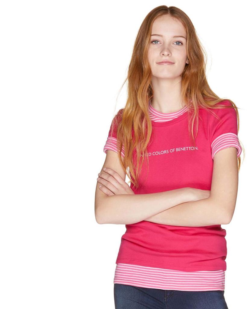 d425150dd0 Verano 2019 Mujer Benetton Básicas Camisetas De Primavera Sw6nUxIqv