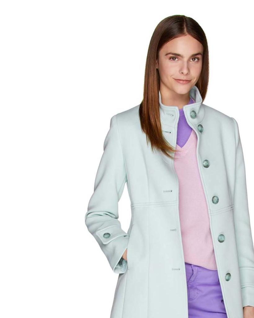 Benetton Colección Mujer 2019 Nueva Corto Abrigo De wYqWTI